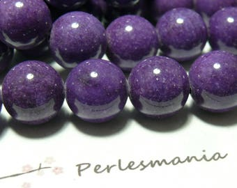 Beads for 5 beads 10mm purple jade jewelry