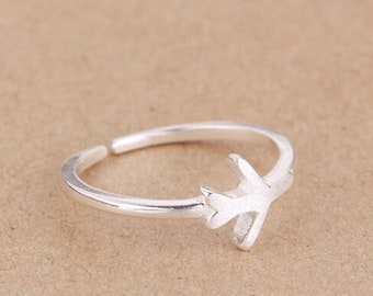 Thin ring, size adjustable 925 sterling silver