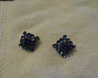 "Vintage 1940-50's Ladies signed ""West Germany"" Pins with faceted stones"