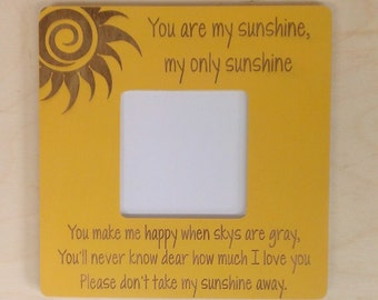 You Are My Sunshine Picture Frame Christmas Gifts 2018