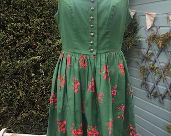 1950's handmade vintage day dress (UK 10)