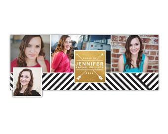 INSTANT DOWNLOAD - Senior Facebook timeline cover - Photoshop template - E1028