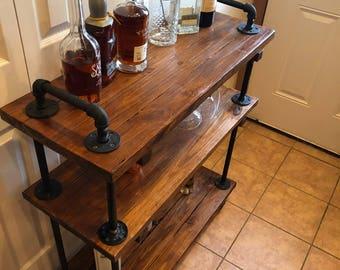 Nice Industrial Bar Cart, Rustic Bar Cart, Industrial Furniture, Rustic Furniture,  Metal And