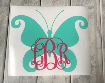 Butterfly Car Decal Monogram Car Decal Car Decal Monogram Car Vinyl Decal Butterfly Car Vinyl Decal Butterfly Decal