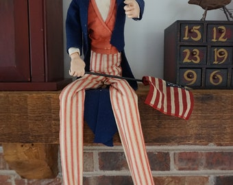 Vintage Uncle Sam Doll Wants You!
