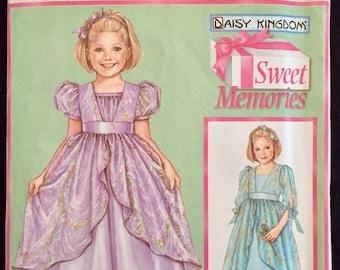 Daisy Kingdom Dress Sewing Pattern ~ Flower Girl Wedding Party Dresses Sweet Memories 5077
