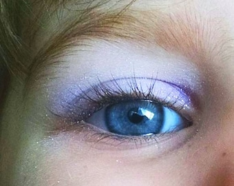 Eye Shadow Fairy Wing Vegan Purple Silver  Sparkle Shimmer Mineral Makeup Pink Quartz Minerals