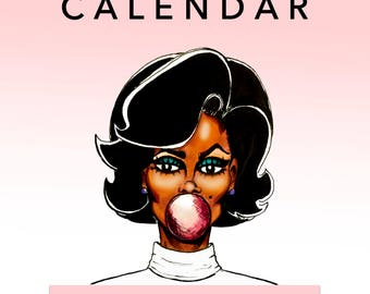 PrettyStock 2018 Wall Calendar