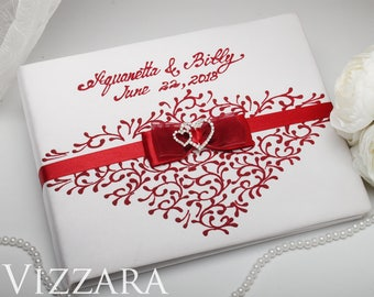 Guestbooks The red wedding Guestbook for weddings Red and silver wedding Unique guestbook ideas for wedding Red wedding ideas