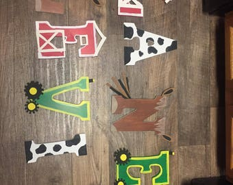 Custom Farm Wood Letters