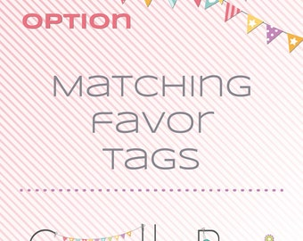 Matching printable favor tag - matching decoration