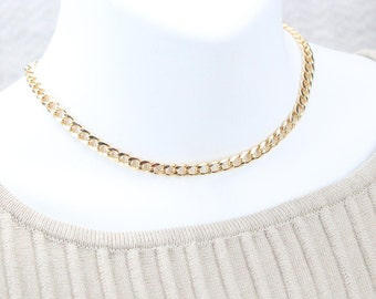 Chunky Curb Gold Plated Necklace