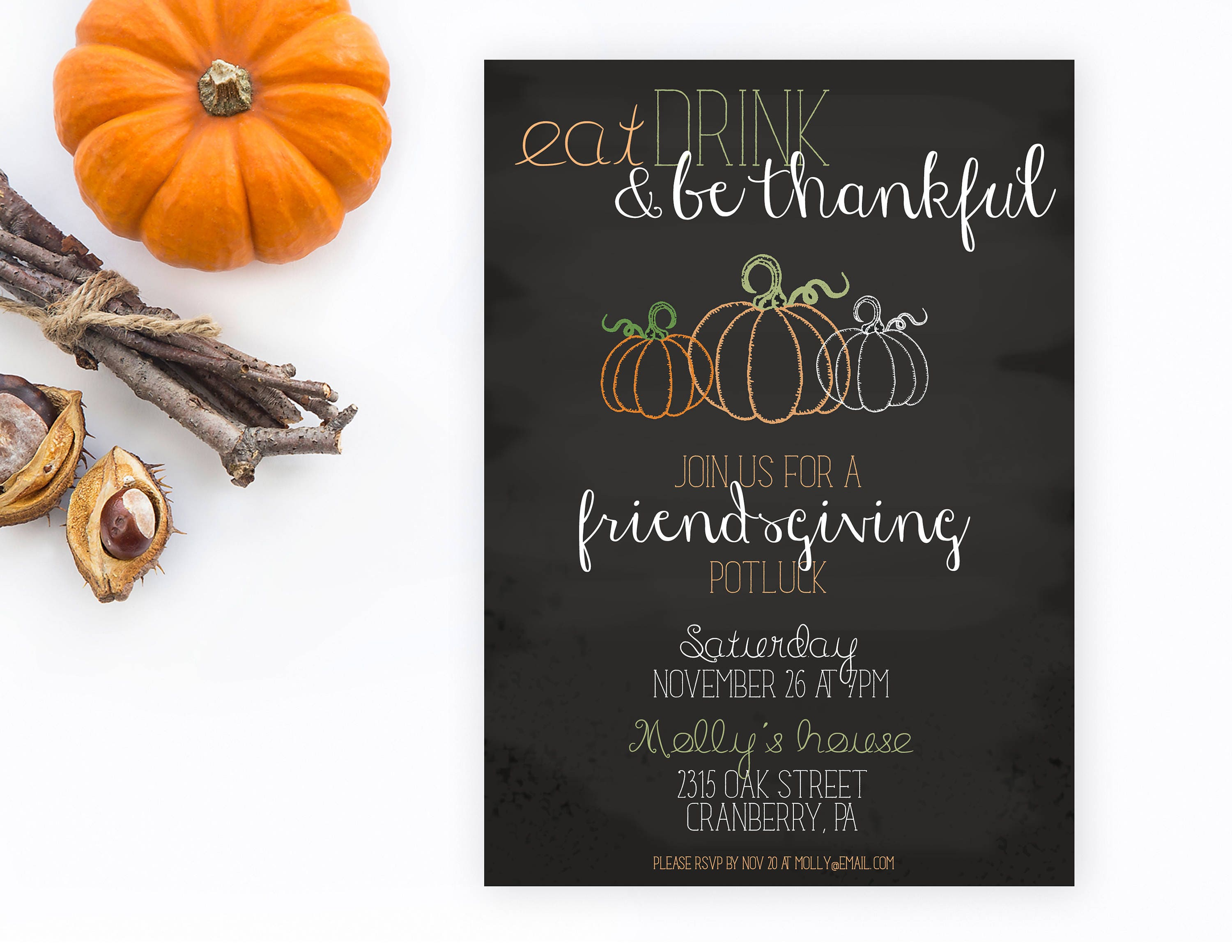 Friendsgiving Friendsgiving Invitations Friendsgiving