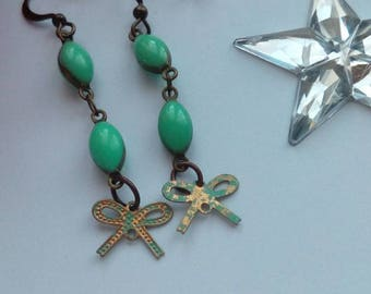 Earrings with little bows