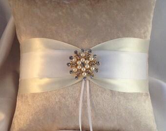 Velvet Ring Bearer Pillow