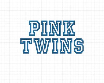 Pink Twins - Iron On Vinyl Decal Heat Transfer