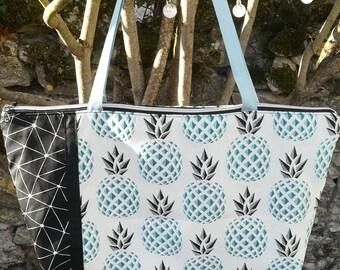 """Weekend bag / purse / tote bag / Tote """"pineapple"""""""
