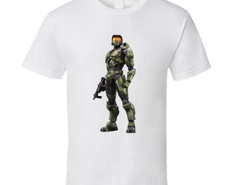 Master Chief Halo Combat Evolved Video Game Character T Shirt