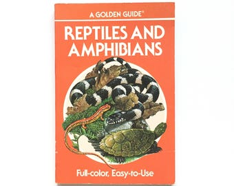 Reptiles and Amphibians Golden Nature Guide / Vintage Golden Guide / Book on Snakes / Amphibians Book / Vintage Field Guide /Homeschool Book