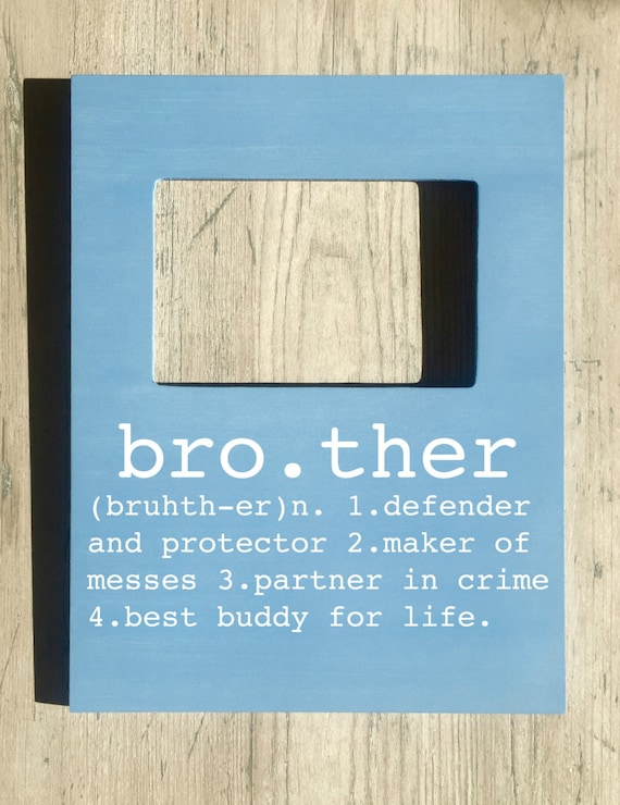 Brother picture frame brother buddy for life big brother little brother picture frame brother buddy for life big brother little brother gifts for brother brother gift brother birthday gift from fourleafframes on negle Images