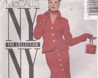 Elegant Suit Pattern McCalls 6191 Size 8 Uncut
