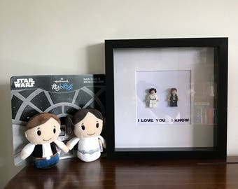 Star Wars Minifig Shadowbox - Han Solo and Princess Leia
