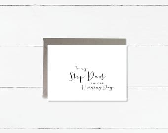 To my Step Dad on our Wedding Day card