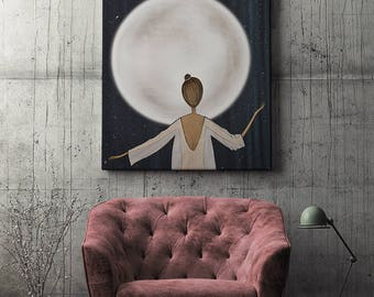 Digital illustration, signed digital print | Moonstruck