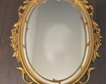 Vintage Syroco Mirror - Syroco Gold Mirror - Hollywood Regency Mirror