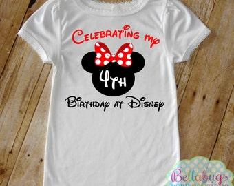 Mon anniversaire à Disney - Body ou T-Shirt - Girl Shirt - Minnie - Disney