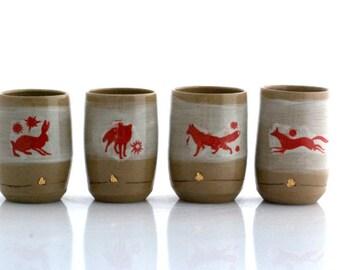 Ceramic cup - pottery mug - coffee mug - unique ceramic tumbler - rustic farmhouse pottery - handmade pottery  - wedding gift - woodland