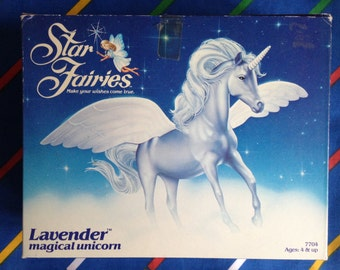 Vintage 1985 Tonka Star Fairies UNICORN, rare doll accessories. American version Hornby Flower Fairies 1980s dolls pixie MiB mint New /Boxed