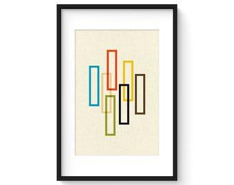PILLAR - Giclee Print - Mid Century Modern Danish Modern Minimalist Modernist Eames Abstract
