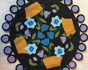Penny Rug - Pretty Flowers