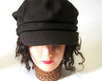 Chocolate Brown Newsboy Cap Twiggy Hat