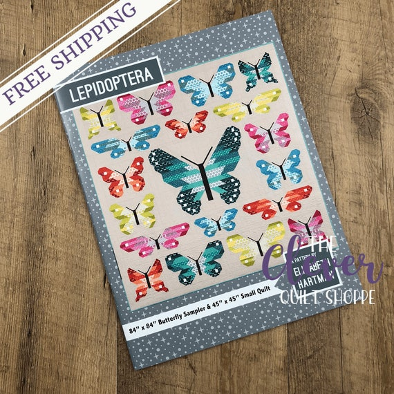 Quilt Pattern, Lepidoptera, Elizabeth Hartman, Oh Fransson, Butterfly, Frances Firefly, Sampler, Bugs, Wings, Fat Quarter Quilt