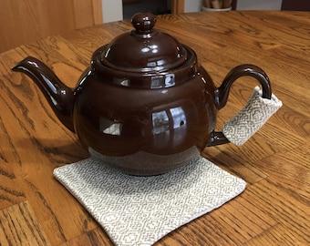 Handwoven Teapot Handle Cozy and Trivet, Teapot Handle Cover, Hot Pad For Tea Pot, Hand Woven Tea Pot Handle Cozy, Tea Pot Cozy and Trivet