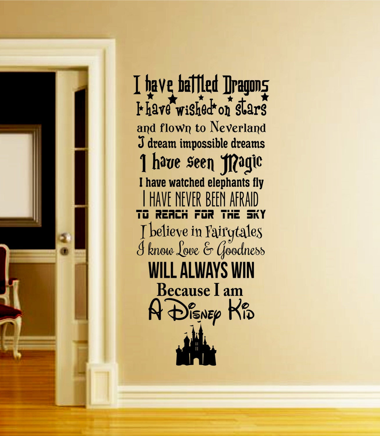 A Disney Kid Wall Decal-Disney Wall Decal-We Do Disney-In this