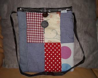 Colorful cotton shoulder bag.