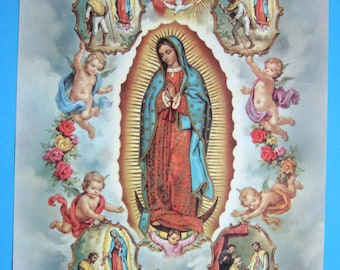 """Our Lady of Guadalupe picture Catholic art print  - 12x16"""" - ready to be framed!"""