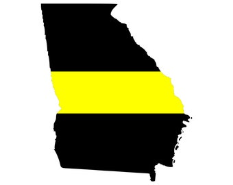 Thin Yellow Line State Vinyl Decal