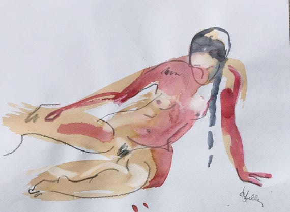 Nude #1445 - Original nude painting by Gretchen Kelly