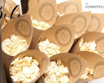Boho wedding Confetti cones Pack of 5
