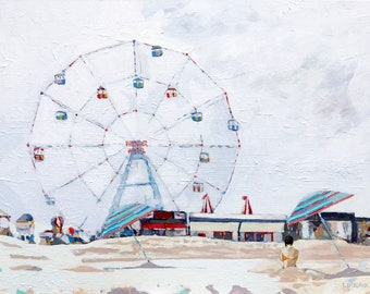Painting: Coney Island (Not for Sale on ETSY, Inquire Directly)