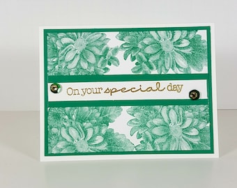 Happy Anniversary Greeting - Floral Design  AnniversaryCard