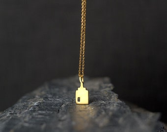 14k solid Gold Gold House Necklace Tiny House Pendant Gift for Her Anniversary Dutch Canal House Charm minimal pendant step gable house