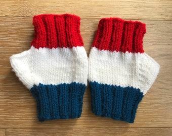 Patriotic Fingerless Gloves