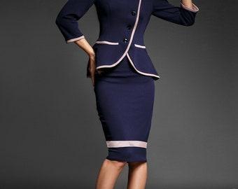 Women suit, women coat and skirt, set