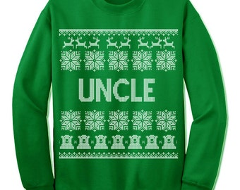 Uncle Ugly Christmas Sweatshirt. Uncle To be. Nordic. Family Christmas. Sweater. Jumper. Ugly Christmas. Pullover.