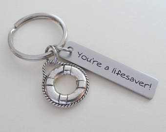 Volunteer Appreciation Gift Keychain, Lifesaver Charm, Volunteer Gift, Employee Gift, Coworker Gift, Work Team Gift, Thank You Gift Teacher